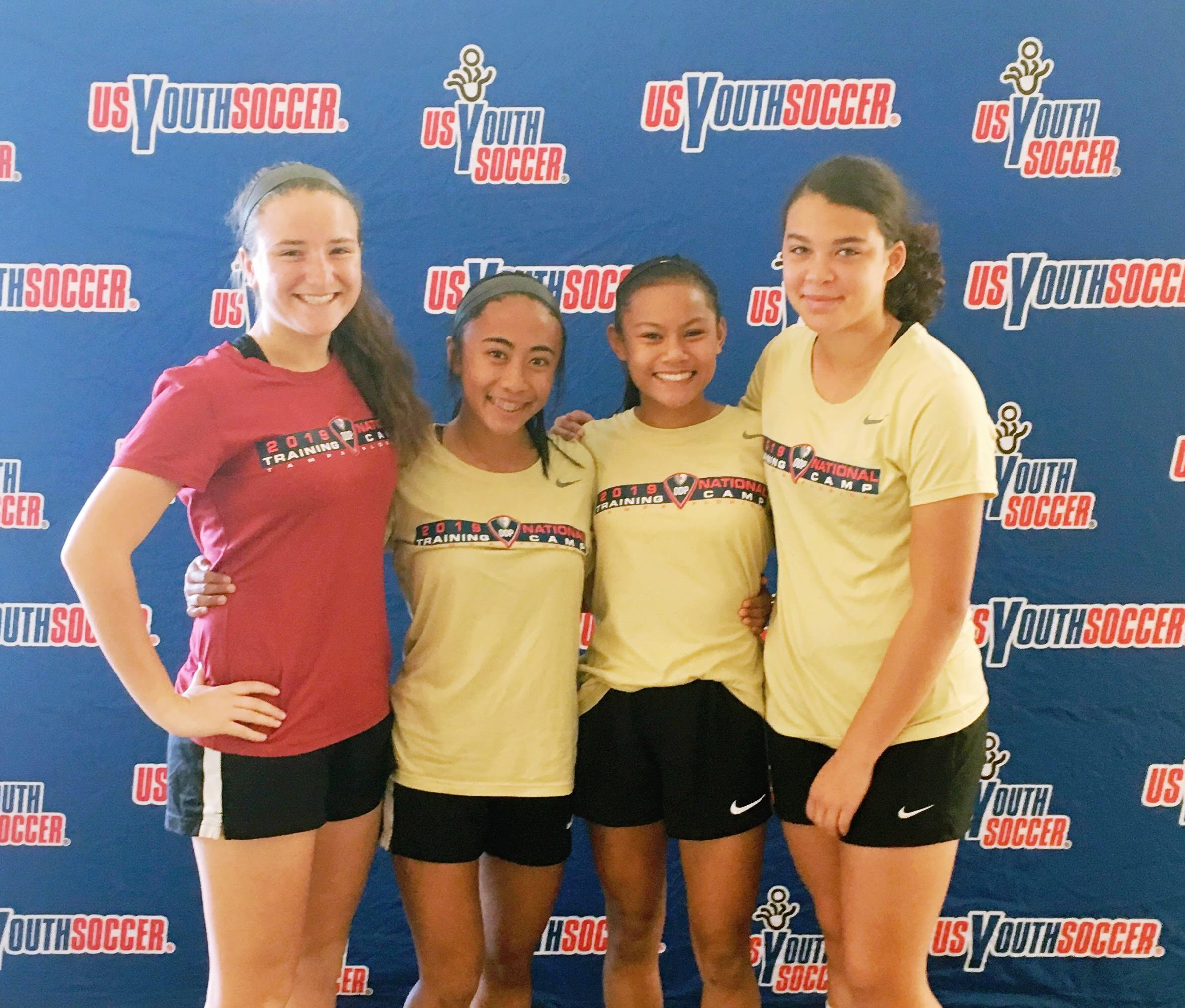From Left to right: Sadie Brown (04 ECNL), Ashleigh Garcia (04 ECNL), Emily Estrada (05 ECNL) and Katie String (05 ECNL)