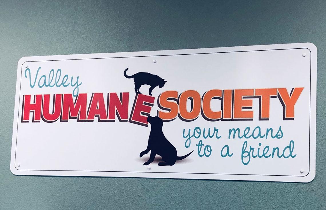 Valley Humane Society sign