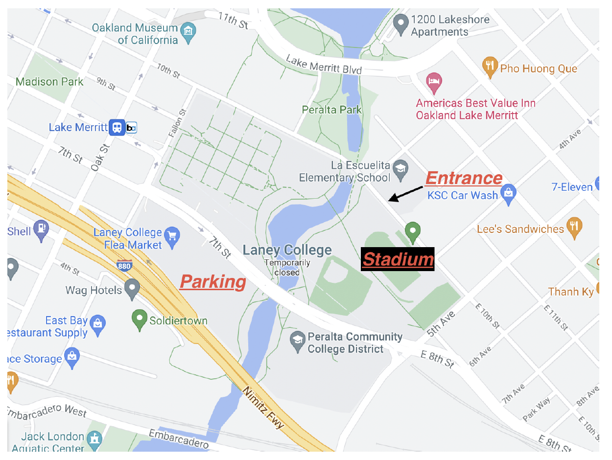 map to laney college
